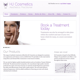 HJ Cosmetics website design