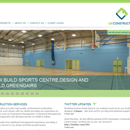 LM Construction website design
